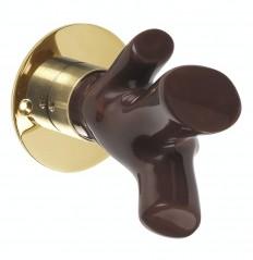 Cristobal bouton marron sur rosace bd
